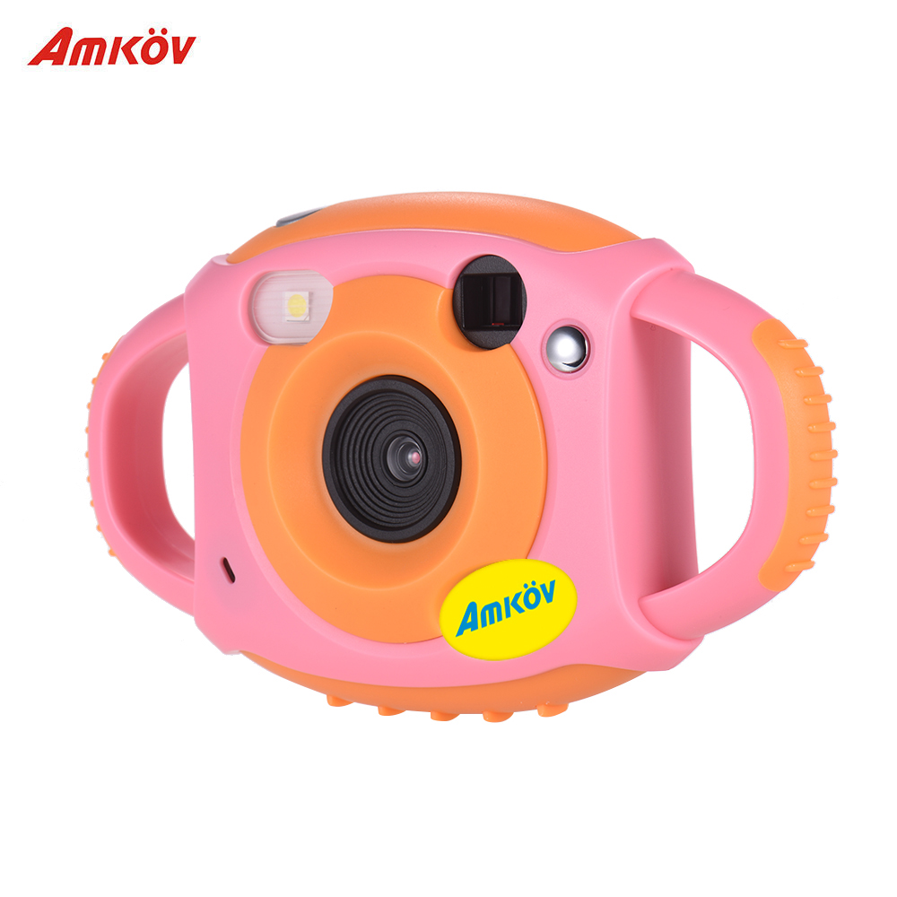 Amkov 1080P Cute Digital Video Camera Max.5 Mega Pixels Built-in 600mAh Rechargeable Battery as Christmas Gift for Kids Children