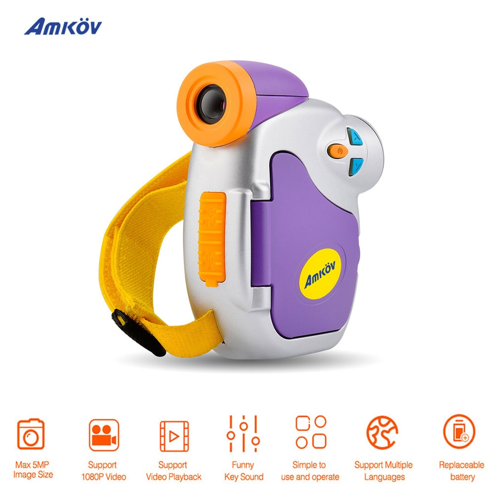 Amkov DV-C7 1080P Lovely Mini DSLR Camera Video Camara Fotografica Digital Video Cameras profissional Photo Camera for Kids Gift