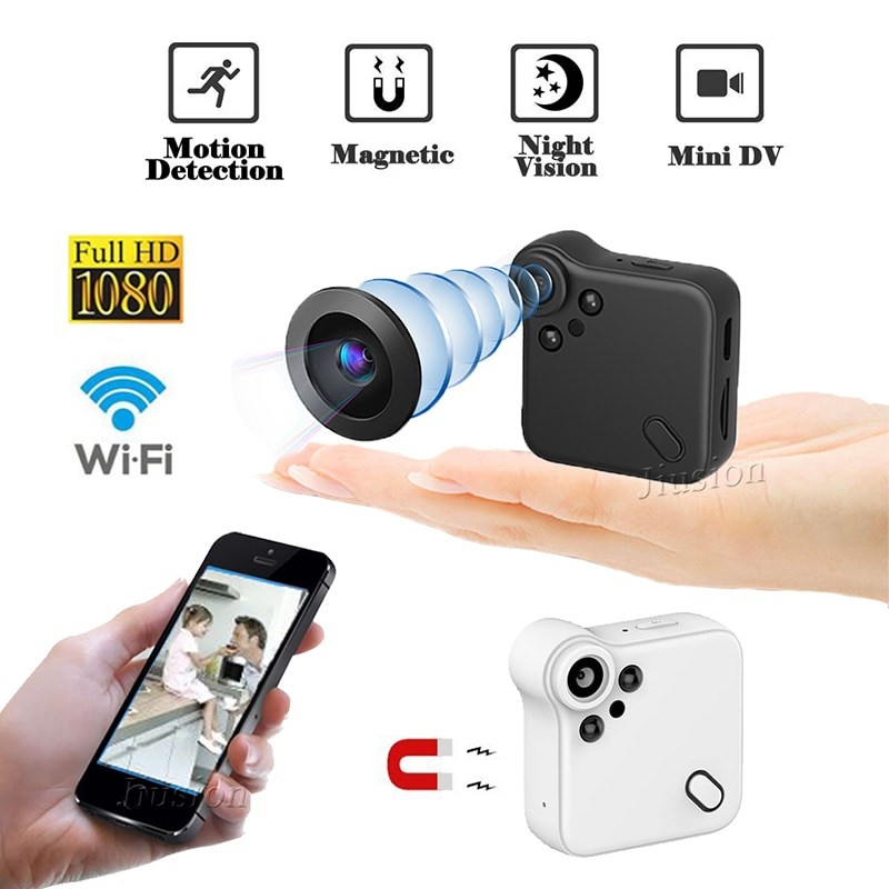 HD 1080P WiFi C1S Mini Camera Magnetic Webcam with Night Vision Motion Sensor IP Camcorder Video Audio Recorder Micro Secret Cam