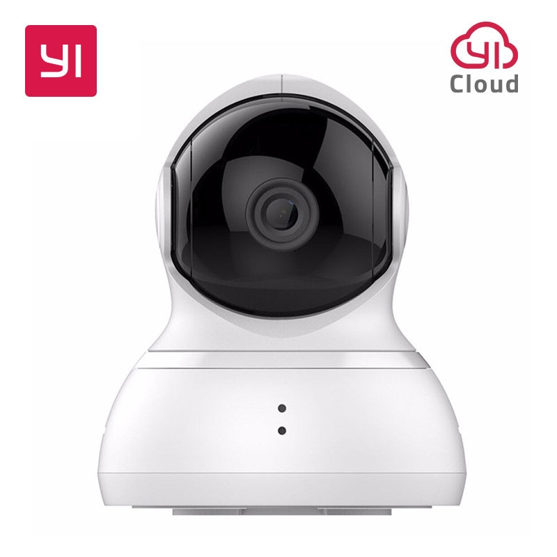YI Dome 720P HD Camera 360 Complete Coverage Smart Home System Pan-Tilt Control 8 Preset Favorites Auto-Cruise