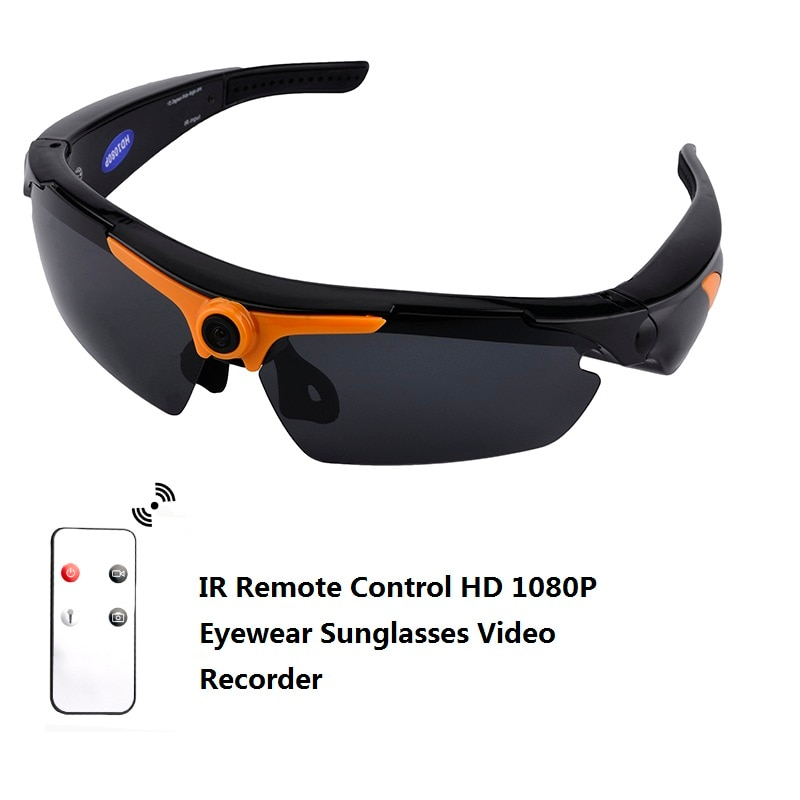 1080P HD Eye Wear 170 Wide Angle Sunglasses Mini Video Recorder Camera Mini DV DVR Polarized Sunglasses with Remote Control