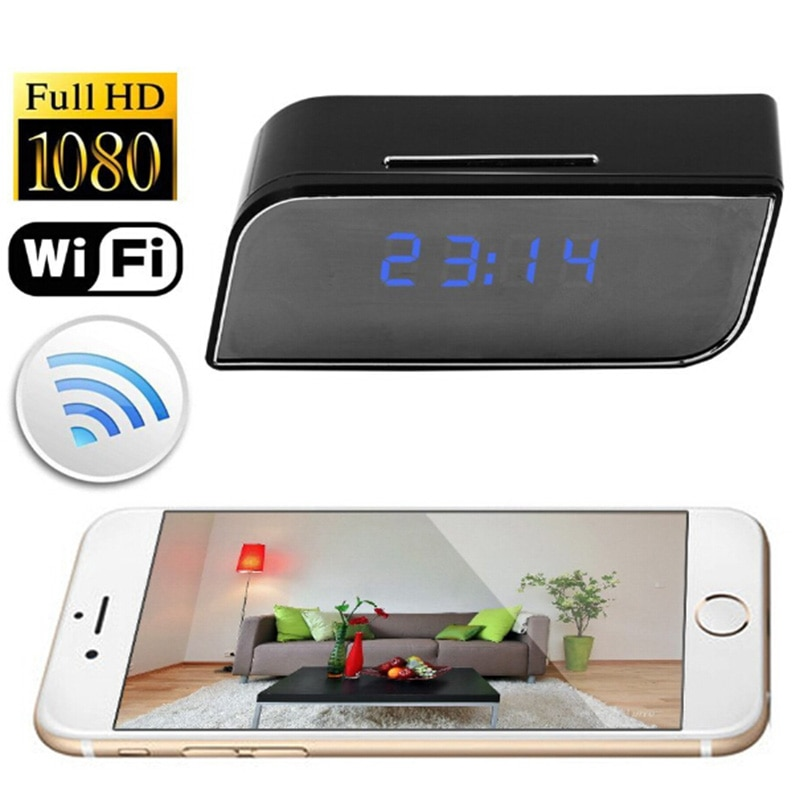1080P WIFI Mini Camera Time Alarm Wireless Nanny Clock P2P Security Motion Detection Home Security