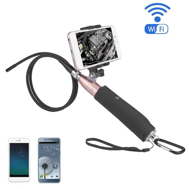 1Pcs Handheld IP67 Waterproof Wifi 8mm Lens 2MP 720P Endoscope Inspection Camera Video Inspection for Android/iOS/Windows/Phone