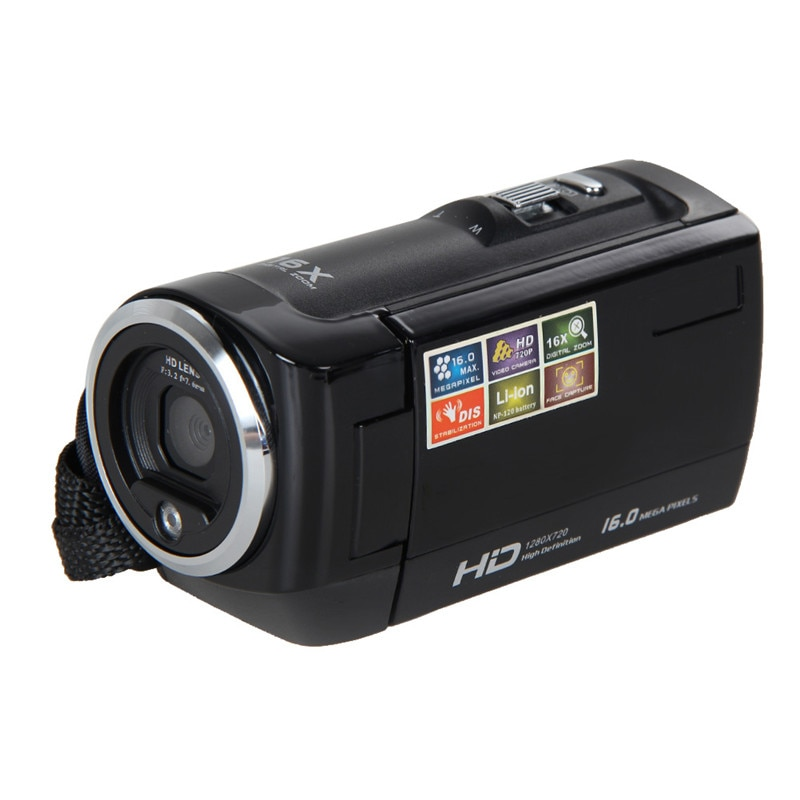 2017 HD 720P Digital Camera HD Video Camera Camcorder 16MP 16x Zoom COMS Sensor 270 Degree 2.7 inch TFT LCD Screen