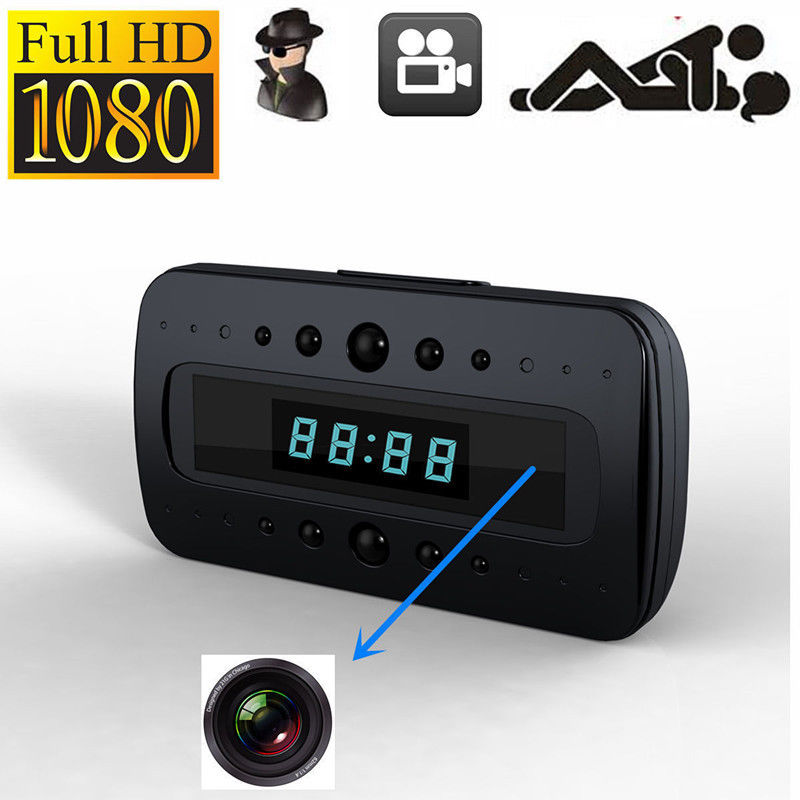 2017 NEW HD 1080P Camera Clock IR Night Vision Motion Detection Mini DV+Remote Mini Security Cam