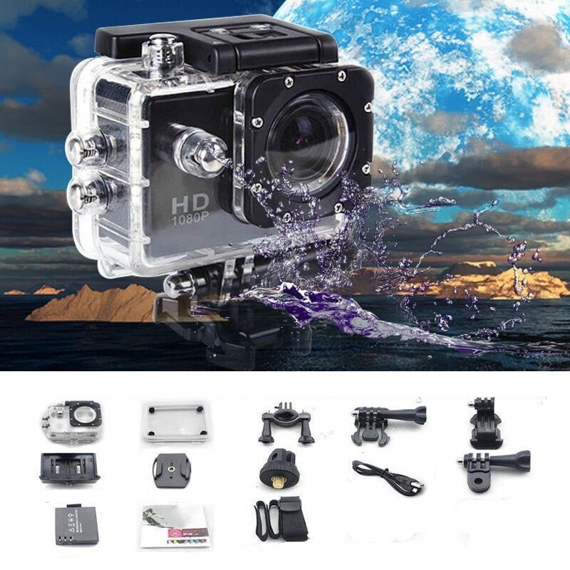 2018 Newest 1080P Full HD Action Sport Mini Camera Outdoor Waterproof gopro style go pro 2