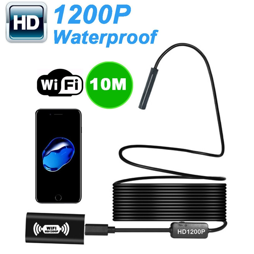 2m 3.5m 5m 7m 10m Wireless Endoscope Inspection Camera For iOS Android 2.0 Megapixel 1200P HD 0J Drop Shipping