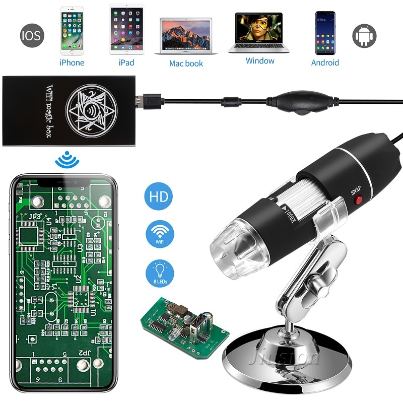 40 - 1000X Digital USB Mini Microscope Camera LED Handheld Student Kid Endoscope Magnification for iPhone Android Windows Mac