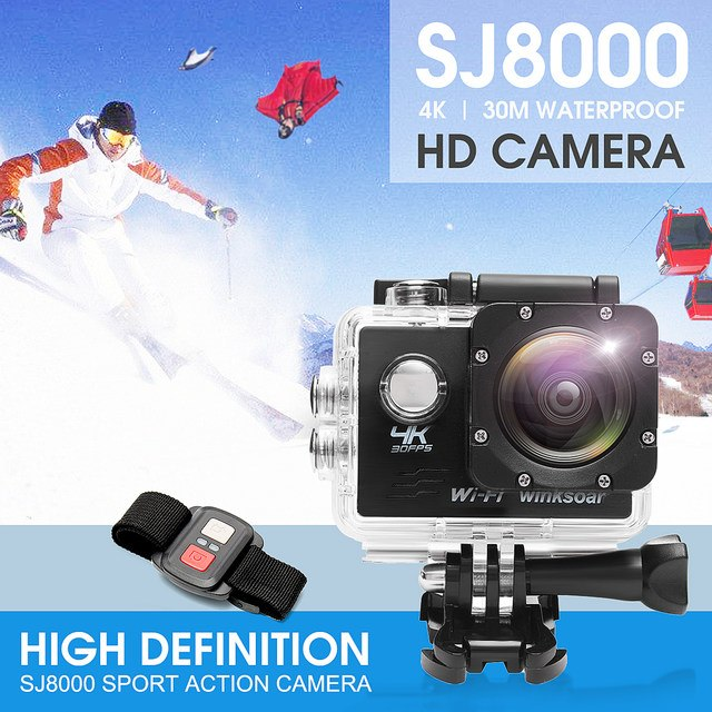 4K SJ8000R Wifi Ultra HD 1080P Sport DV Action Camera Camcorder+Remote Control Black/White/Yellow/Blue/Grey Wide Angle Lens