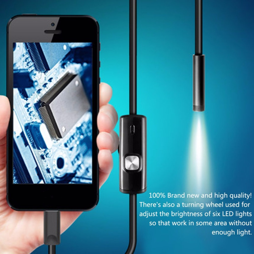 5.5mm lens 1m/1.5m/2m soft cable android usb endoscope camera waterproof mini camera for pc android phone borescopes