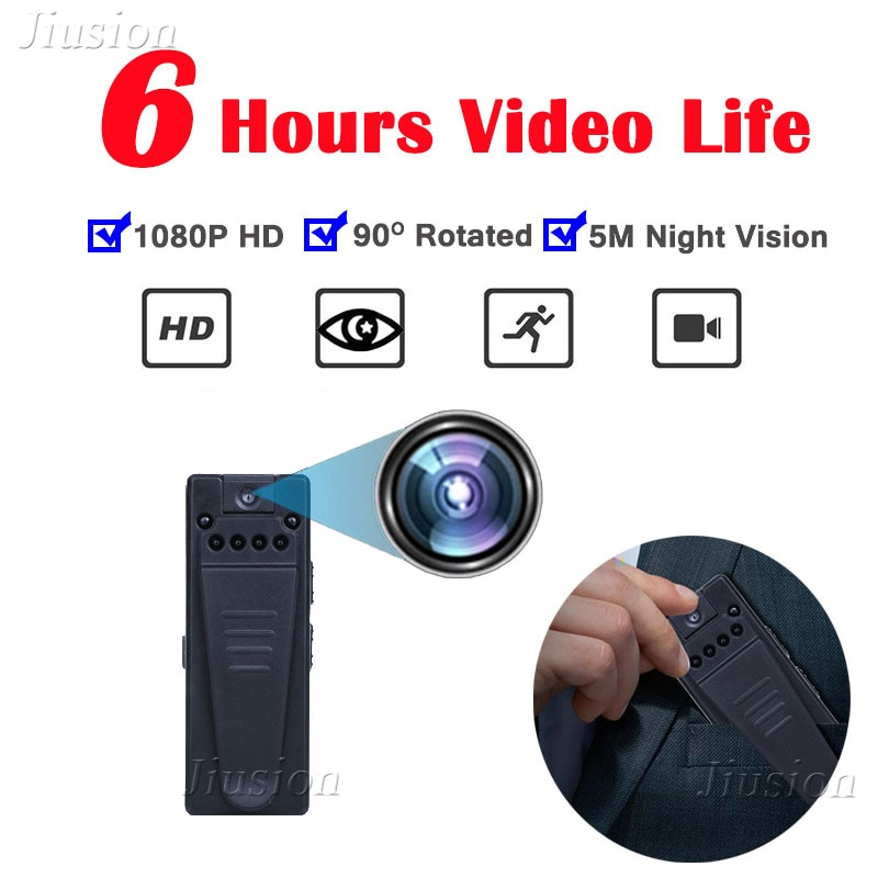 6 Night Vision Lights 1080P HD Mini Camera Webcam Motion Detection Wide Angle Video Audio Car Recorder Sport Action Micro Cam