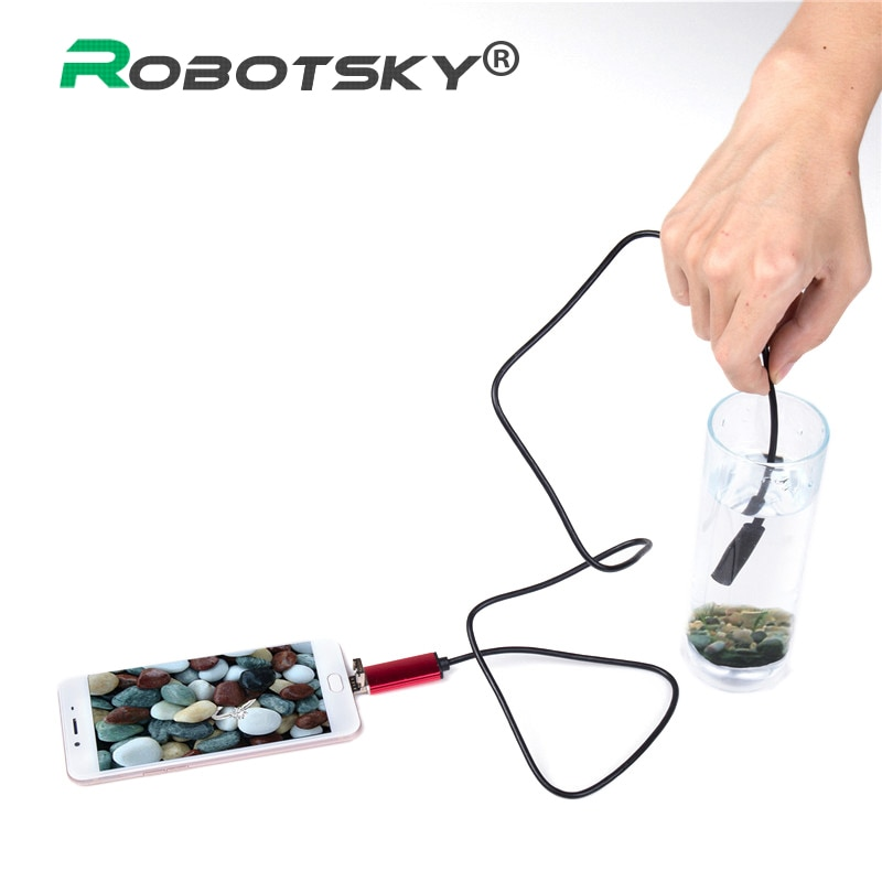 7mm 2 in 1 USB Endoscope 480P HD USB Endoscopio Inspection Micro Camera Android Phone USB Inspection Camera 1M 2M for PC