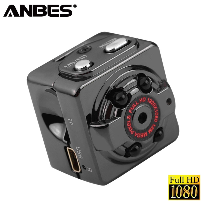 ANBES Mini Camcorders HD 1080P SQ8 Night Vision Out Mini Camera Micro Sport DV Camcorder Video Recorder Camera Support TF Card