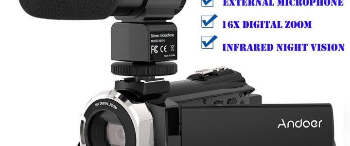 Andoer 4K 1080P 48MP WiFi Digital Video Camera Camcorder Recorder with External Microphone IR Infrared Night Sight 16X Zoom Review