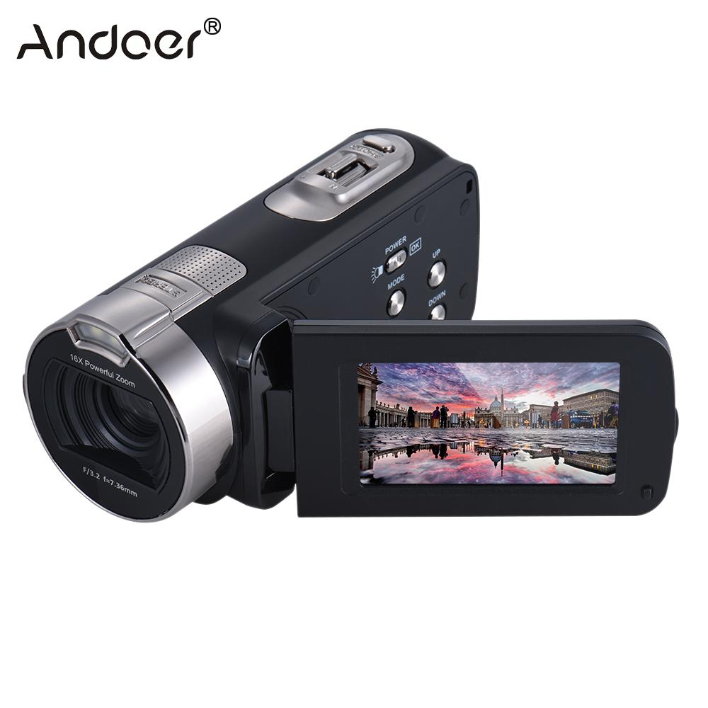 Andoer HDV-312P 1080P Full HD Digital Video Camera Portable Home-use DV with 2.7