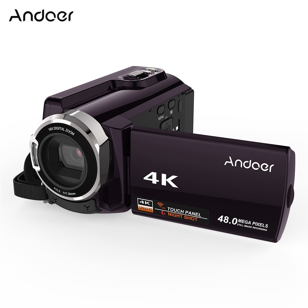 Andoer HDV-534K 4K 48MP WiFi Digital Video Camera 1080P Full HD Novatek 96660 Chip 3