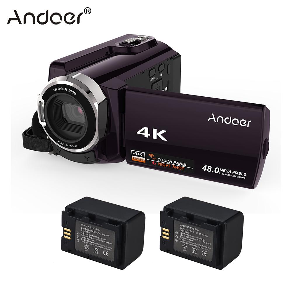 Andoer HDV-534K Video Camera 4K 48MP WiFi Digital Video Camera 1080P Full HD 3