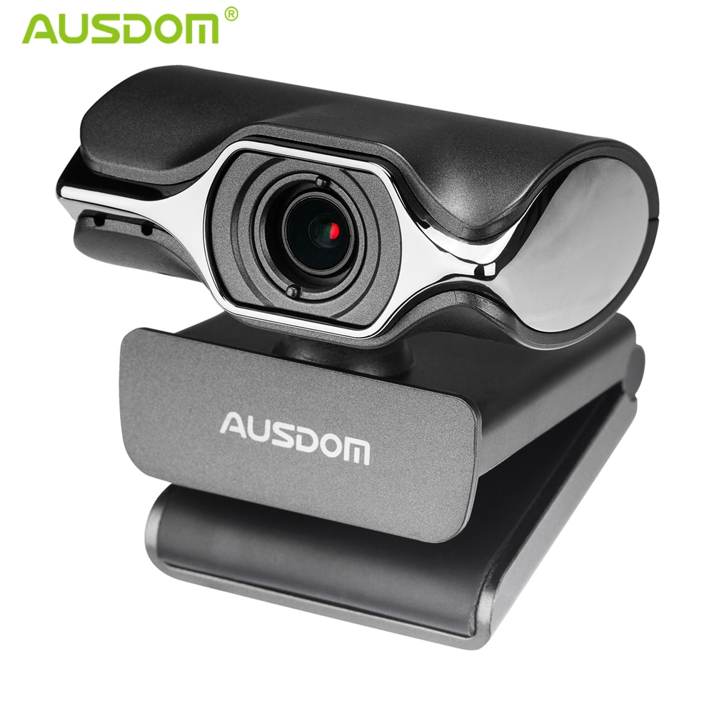Ausdom AW620 Webcam HD 1080P Web Computer Camera with Microphone for Desktop Laptop USB Plug and Play for Skype Video Calling