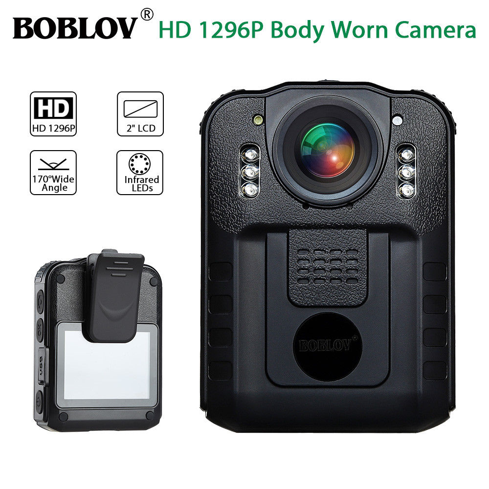 BOBLOV WN9 Novatek 96650 2.0 Inch LCD HD 1296P Police Camera Infrared Night Vision Audio Video Recorder USB Body Worn Camera
