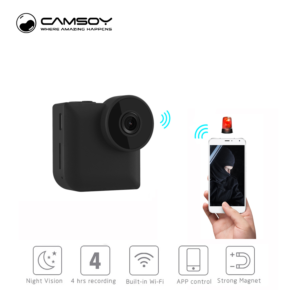 C3 Mini Camera Wireless WIFI IP Control Camcorder HD 720P Video Infrared Night Vision Camera WiFi DVR Magnetic 140 degree Camera