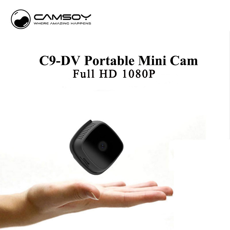C9 DV Mini Camera Camsoy FULL HD 1080P Body Wearable Night Vision Action Camera Mini DV DVR Recorder Micro Cameras