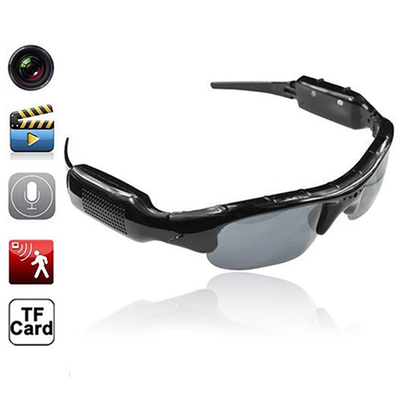 Eyewear Sunglasses Camera with Mic Stealth Video Audio Recorder Helmet DV DVR Mini Outdoor Sport Camcorder Secret Micro Cam