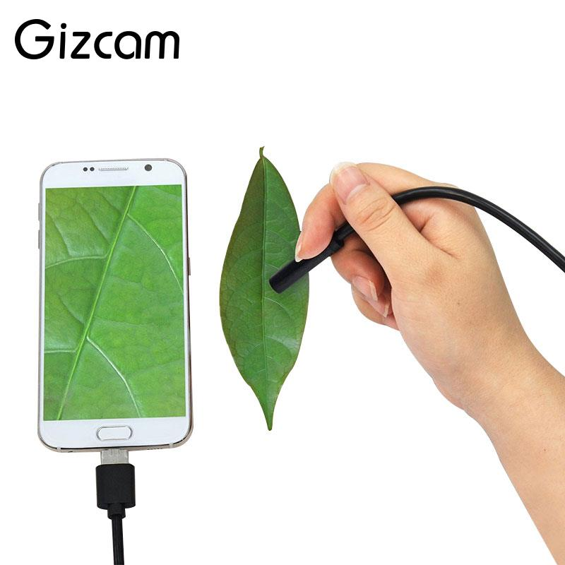 Gizcam Portable 2m 6LED 3in1 USB/MicroUSB/Type-C Endoscope IP67 Waterproof Inspection Mini Micro Camera for Android Smart Phone