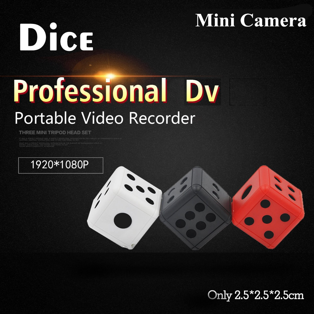 HD 1080P Dice Mini Camera Action DV Camera Mini Camcorder Video Recorder Motion Detection Micro Cam Dice Camera pk SQ11 SQ8