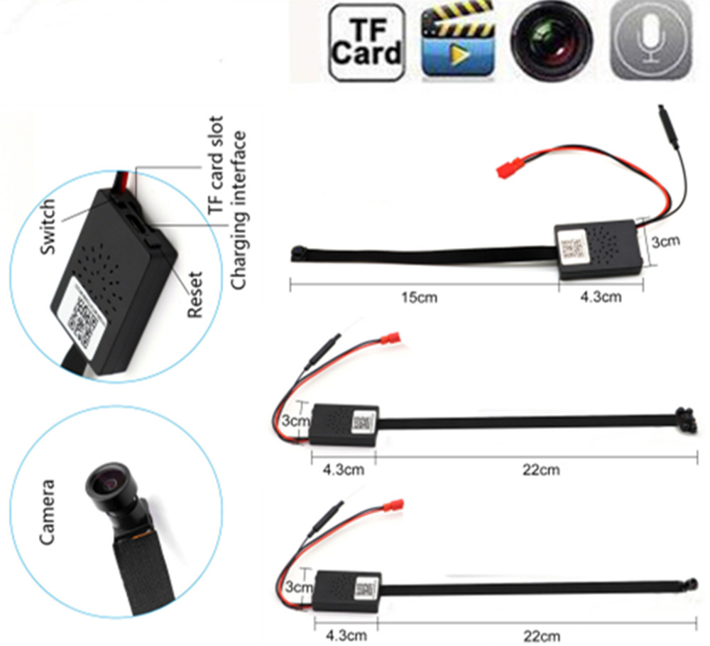 HD 1080P WIFI Network Camera P2P Mini Camera DIY Wireless Camera Module Motion Activated DV Camcorder with Baby Monitor