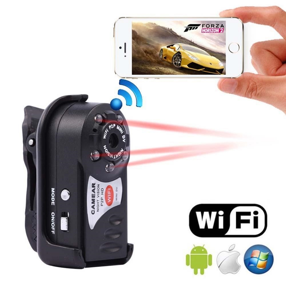 HD WiFi P2P Mini Camera Car DV DVR Q7 Video Audio Recorder Webcam Night Vision Wireless Secret Camcorder Small Nanny Mirco Cam
