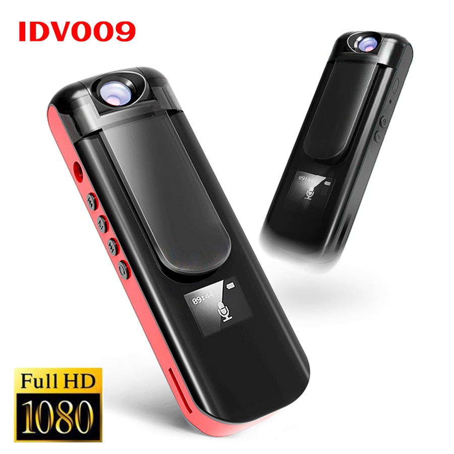 IDV009 Mini Camera 1080P Full HD Video Voice Recorder with Rotatable Lens + MP3 Player Sport DV Camcorder Mini DVR Recording Pen