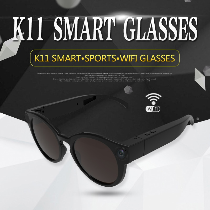 K11 Camera Sunglasses 1080p Wifi Mini Micro Cameras Polarized-lenses HD Sports Video Recorder Camcorder TF Card Eyewear Video