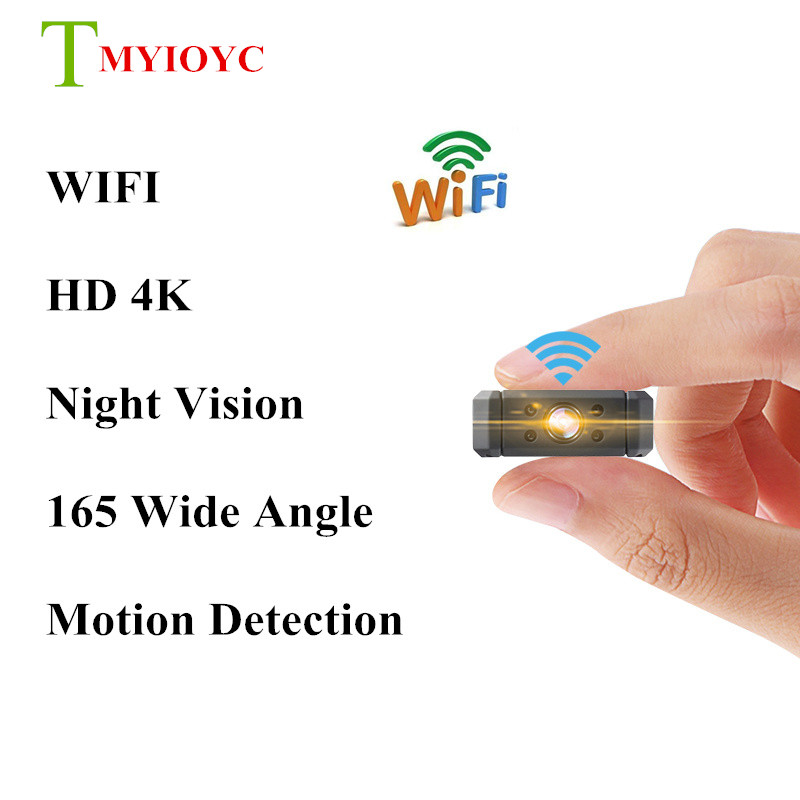 MD90 HD 4K Wifi Mini Camera Motion Detection Wifi Mini Camcorder 165 Degree Wide Angle Night Vision Micro Camera Baby Safe Care