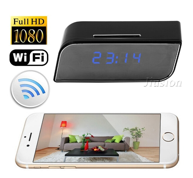Micro Wifi IP Camera HD 1080P Clock Mini Camcorder Wireless Video Recorder Security Digital Cam Motion Detection Sensor Espia