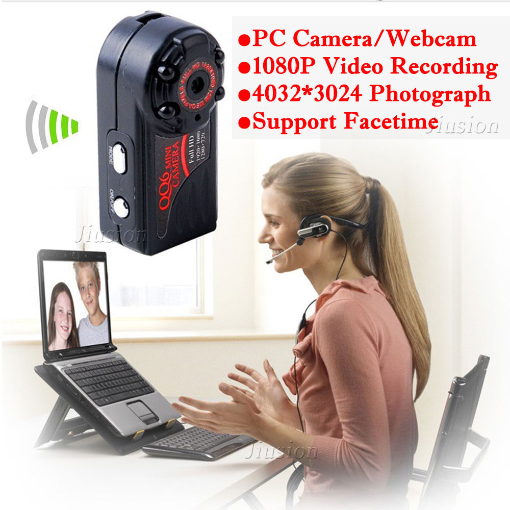 Mini Camcorder HD1080P Webcam QQ6 PC Camera Motion Sensor Night Vision Support Facetime Video Recorder with Mic DV DVR Micro Cam