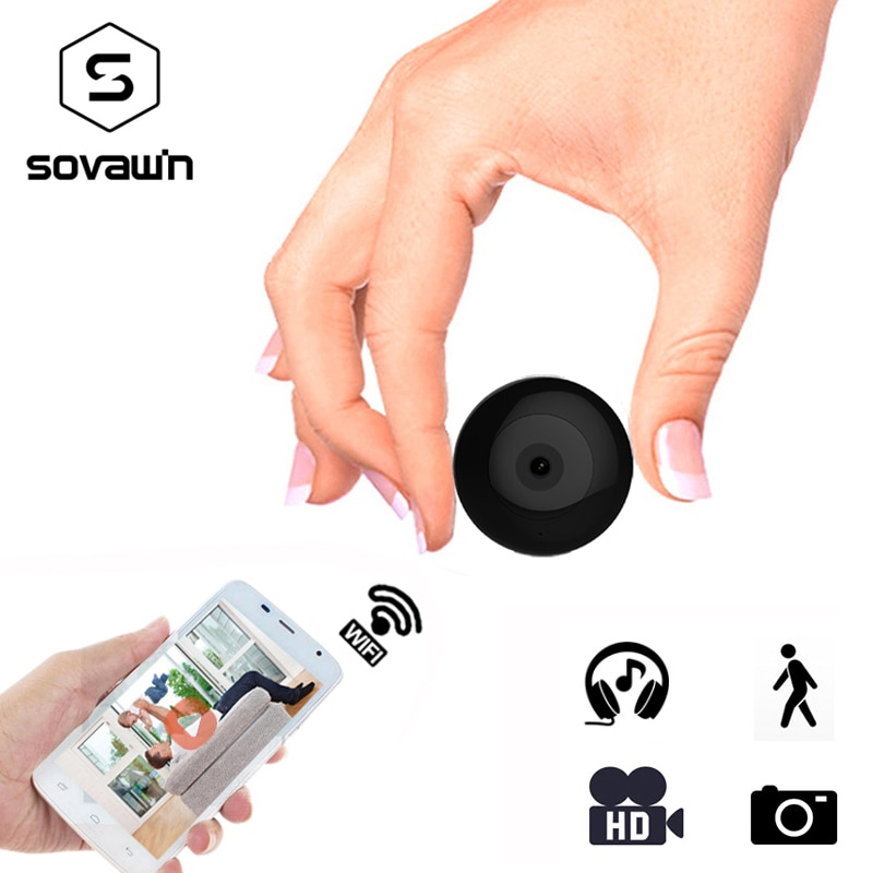 Mini Camera Wifi IP with Motion Sensor 720P Mini Camera Wifi HD Night Vision for iphone Android Video Security Magnetic Clip