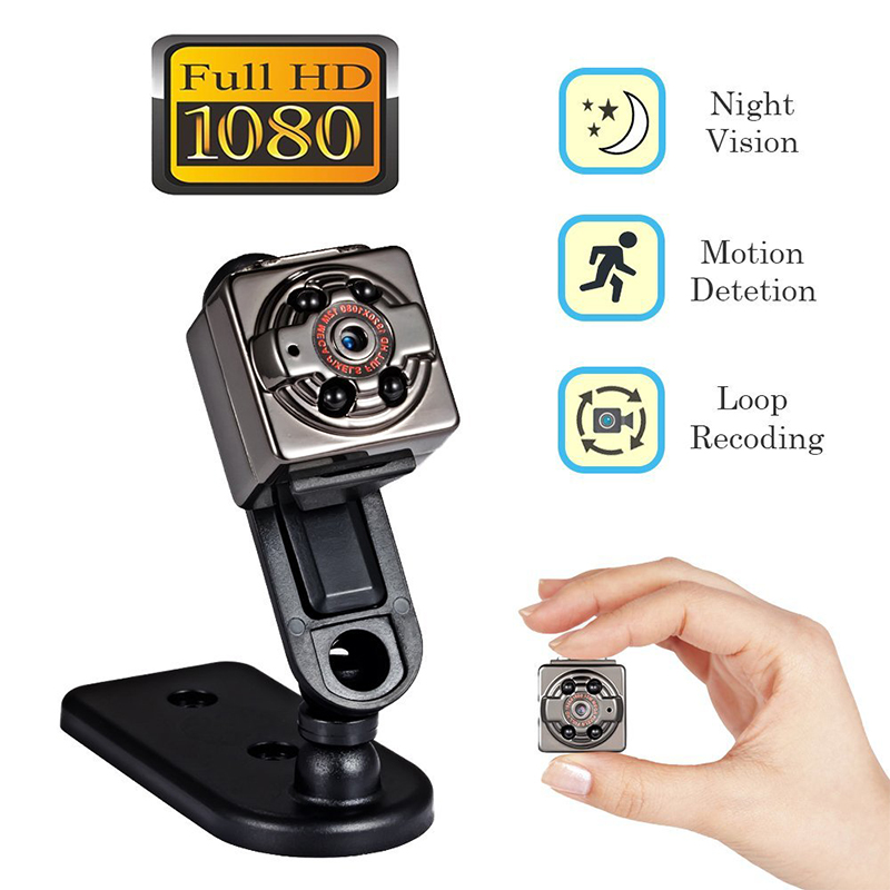 Mini DV Camera SQ8 Full HD 1080P Mini Security Camera with Night Vision and Motion Detection for Home and Office Surveillance