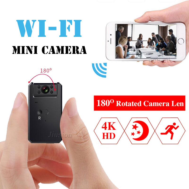Mini WiFi Magnetic Camera 4K HD 1080P Video Audio Recorder Night Vision Motion Detection Small Wireless Camcorder Car Micro Cam