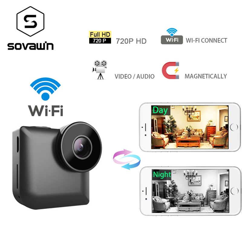 Mini ip Camera Wifi 720p Outdoor HD Sport Night Vision DVR DV Wireless P2P Small Car Camcorder Action Wide Angle Portable SD Cam