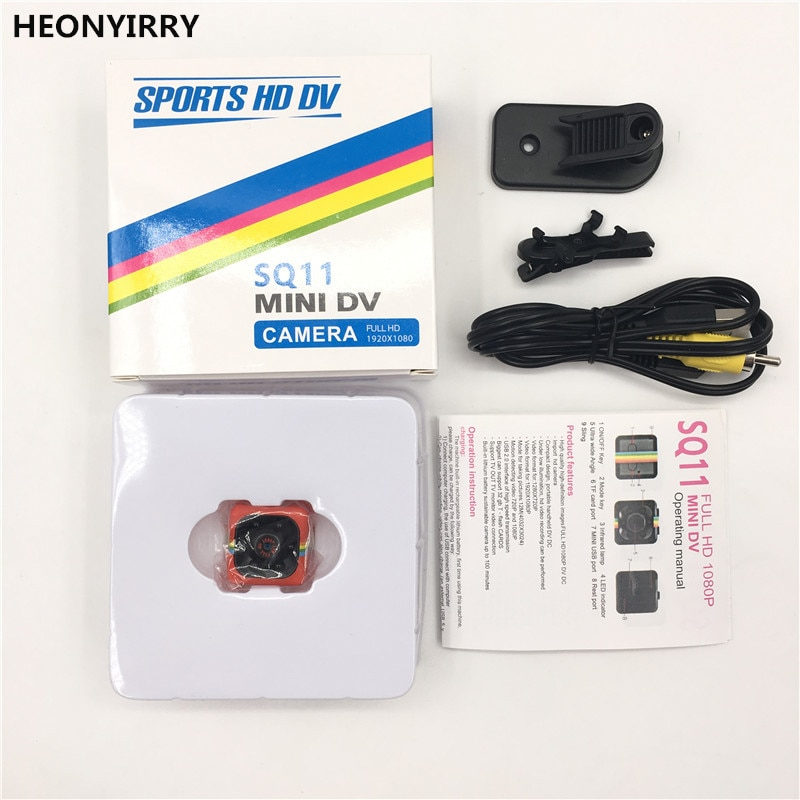 Newest SQ11 HD 1080P Mini Camera Infrared Night Vision HD Sport Micro Cam Motion Detection Camcorder DV Video voice Recorder SQ8