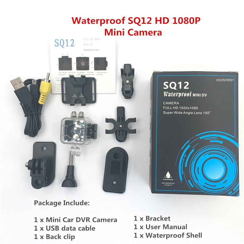 Original SQ12 SQ11 HD mini camera 1080P Wide Angle Waterproof MINI Camcorder DVR Mini video camera Sport Camcorders