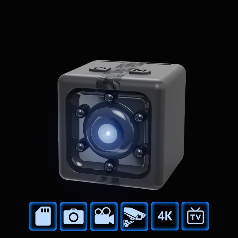 Outdoor 10g Full HD 1080P Microcamera Action Night Vision Sport Recorder Camcorder Portable Mini Wireless Camera Support TF Card