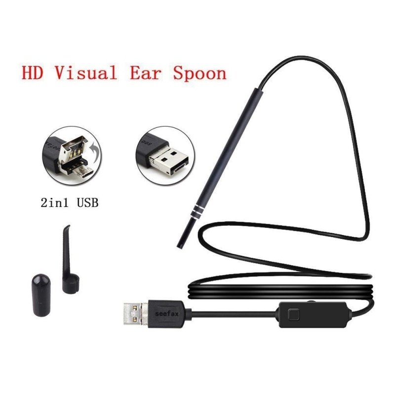 Pro 2-in-1 USB Ear Cleaning Tool Ear Cleaning Endoscope HD Visual Ear Spoon Multifunctional Earpick With Mini Camera Pen Camera