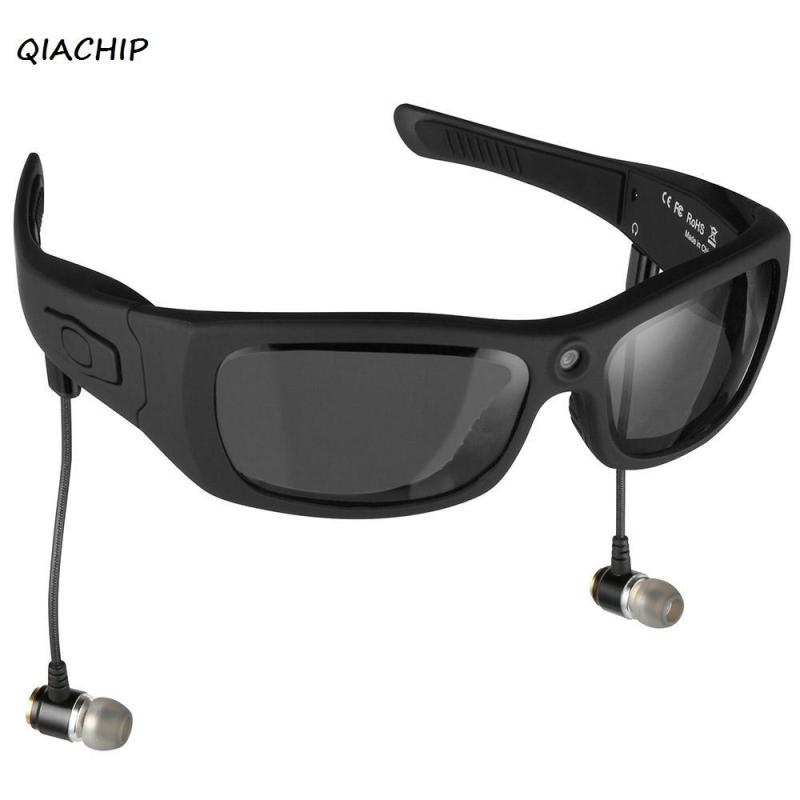 QIACHIP Eyewear Sunglasses Mini Camera Support TF Card Video Recorder DVR MP3 Camcorder Music glasses with Bluetooth Headset H3