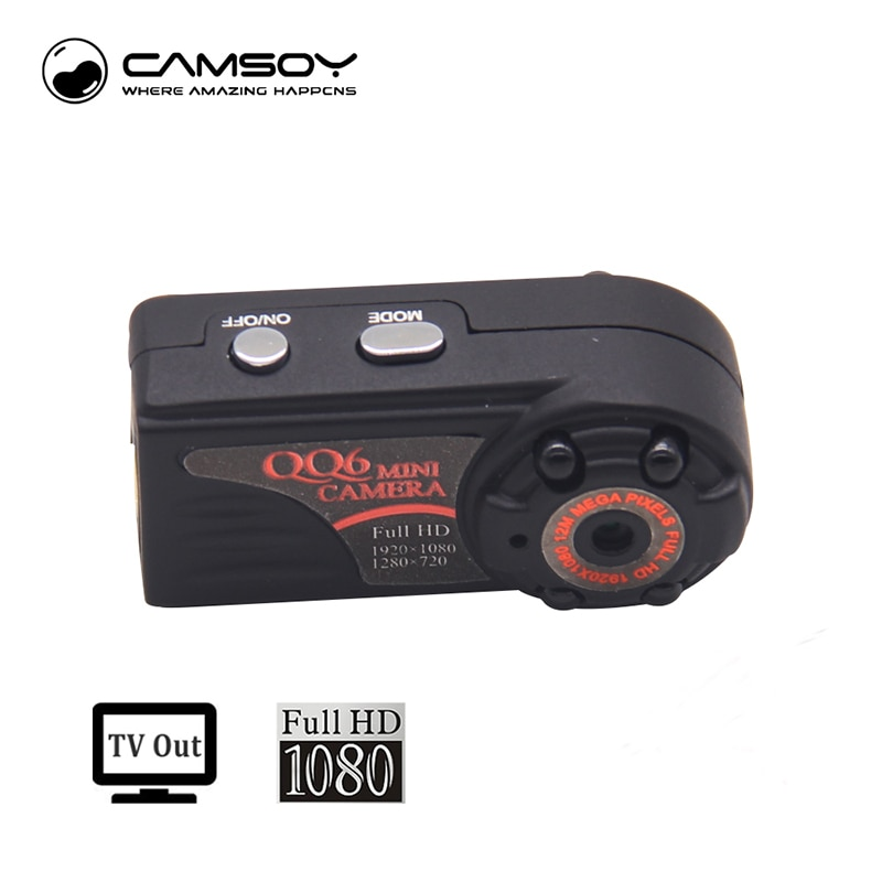 QQ6 Mini Camera Full HD 1080P DVR DV Camera Micro Camcorder Kamera 185 Degree Motion Detector Mini Camcorder Minikamera