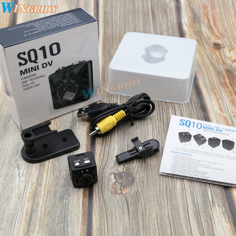 SQ10 100%Original Mini Camcorder Mini Night Full HD 1080P Camera Recorder HD Motion Sensor Micro USB Camera Infrared Vision Cam