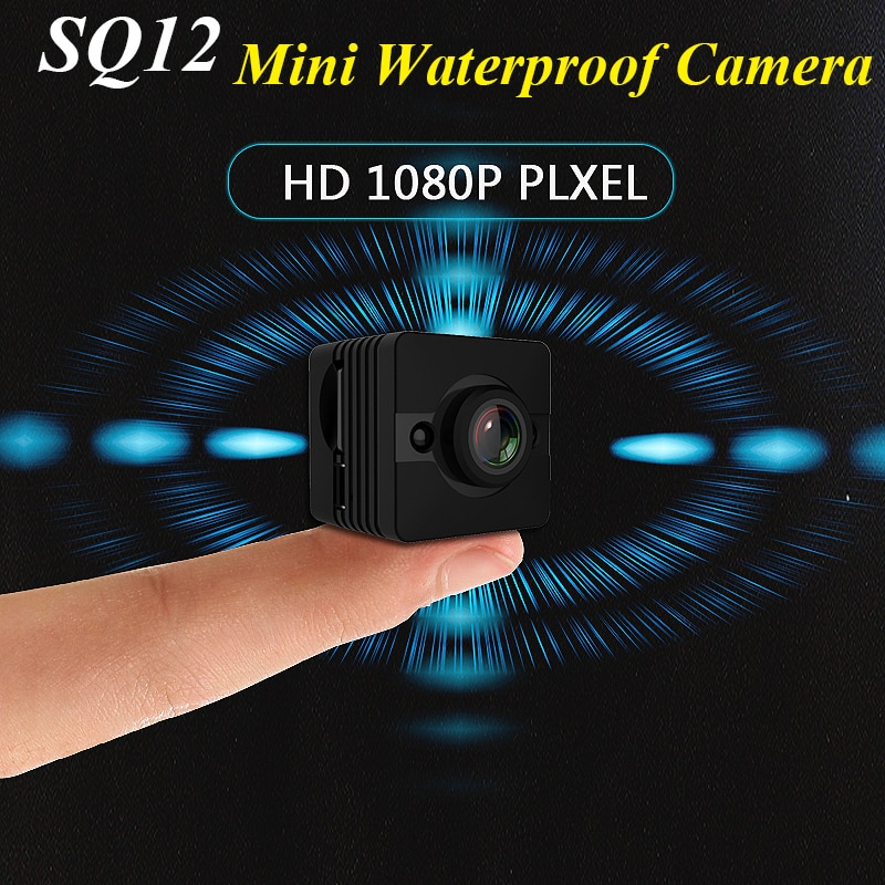 SQ12 HD 1080P Mini Camera Night Vision Wide Angle lens Waterproof Mini Camcorder DV Voice Video Recorder Action Camera 2018 New