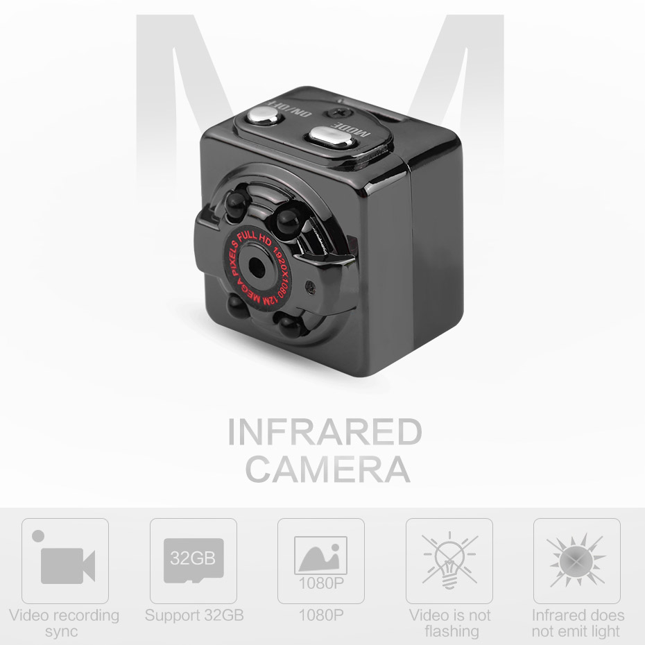 SQ8 Mini Camera Full HD 1080P With Motion Sensor Night Vision Micro Camcorder Sport Outdoor DV Voice Video Recorder Action Cam