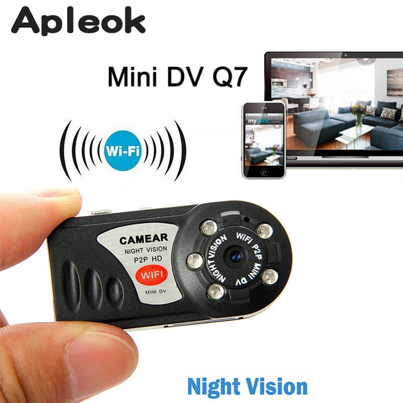 Small WIFI Q7 Camera Wireless Camcorder Video Recorder Infrared Night Vision Motion Detection Mini MD81S IP Camera