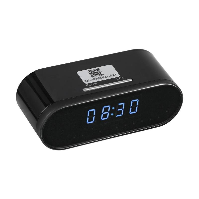 Smart Electronic Clock 1080P HD P2P Camera WiFi IP Remote Monitor App Remote Monitor IR Night Vision Surveillance Security Tool